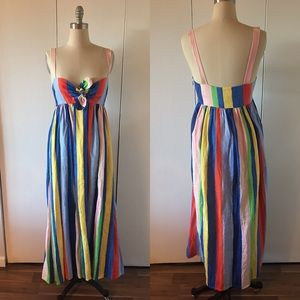 MARA HOFFMAN- SZ 6 - vertical stripe maxi dress